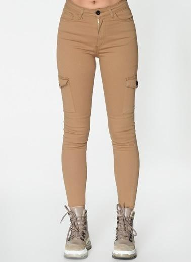 Loves You Kargo Skinny Jean Pantolon Camel